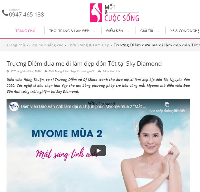 Mốt và cuộc sống – Trương Diễm đưa mẹ đi làm đẹp đón Tết tại Sky Diamond