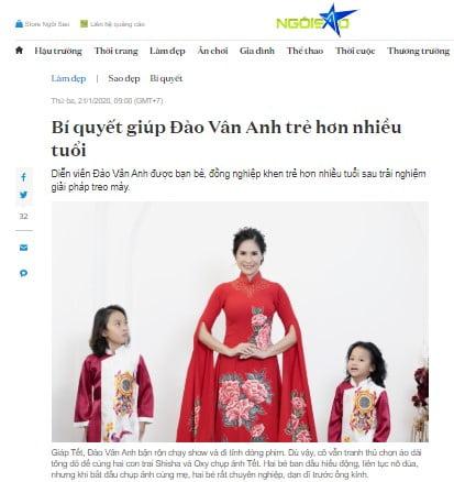 Ngoisao.net – Bí quyết giúp Đào Vân Anh trẻ hơn nhiều tuổi