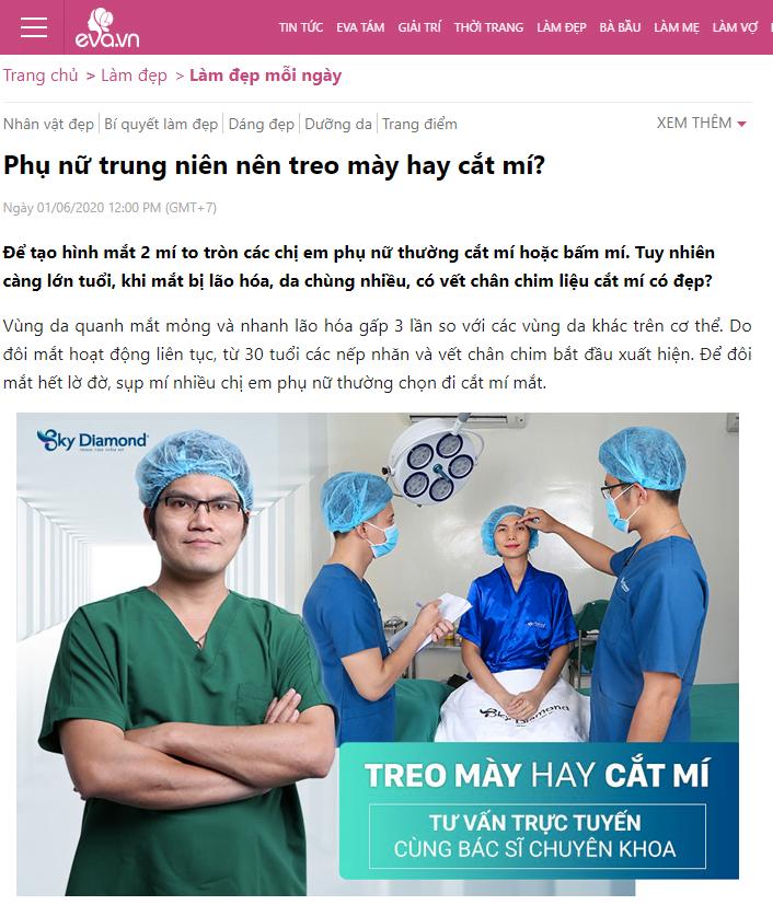 Eva.vn-Phụ nữ trung niên nên treo mày hay cắt mí?